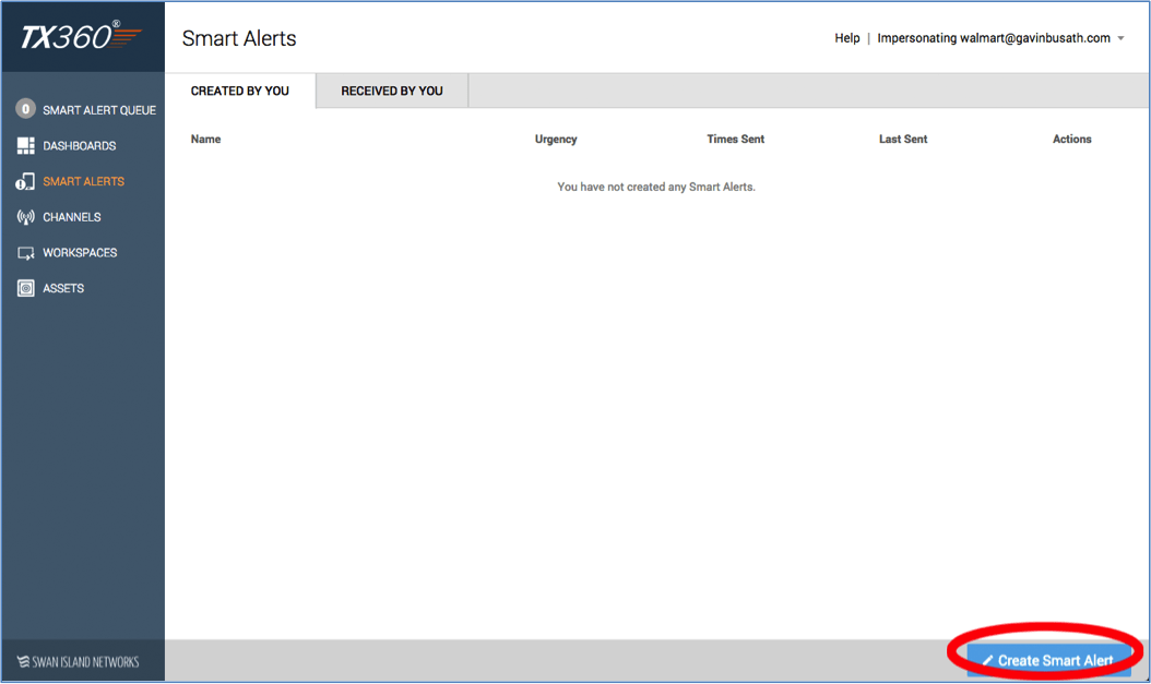 Smart Alerts page